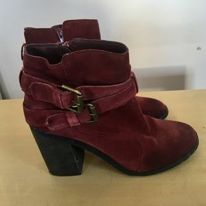 Anthropologie Suede Boots size 9.5
